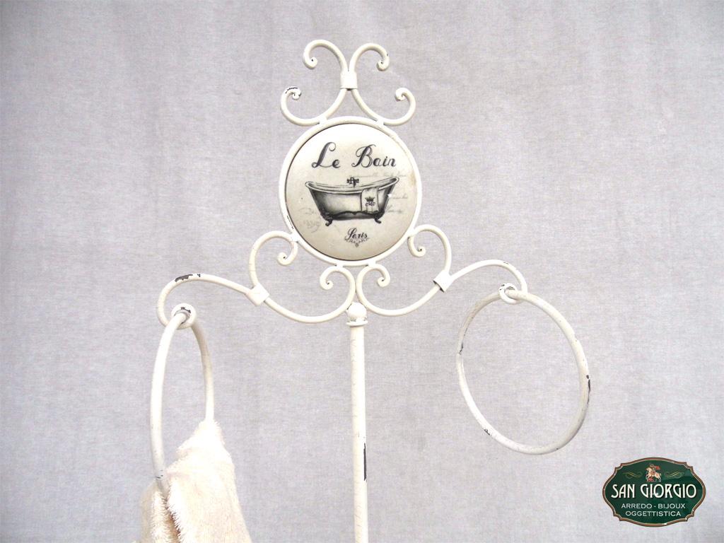 Porta asciugamani con anelli le bain paris f0896 san for Accessori bagno le bain
