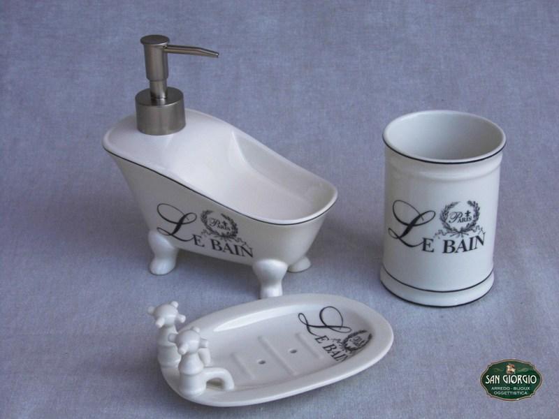 Dispenser a forma di vasca con piedinic0865 san giorgio - Accessori bagno le bain ...