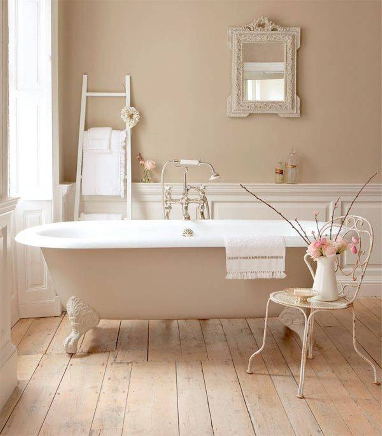 Rinnova il tuo bagno con la linea le bain paris san giorgio for French shabby chic bathroom ideas