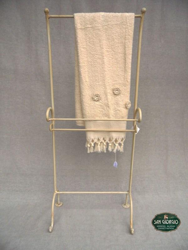 Porta asciugamano su due livelli modello altof0805 san for Arredo bagno porta asciugamani