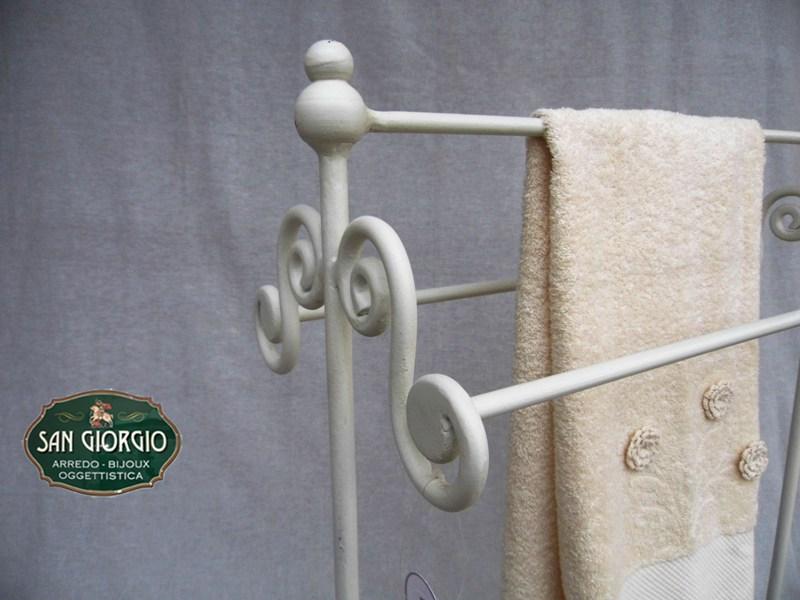 Porta asciugamano tre posti grande bianco san giorgio - Porta asciugamani bagno ...