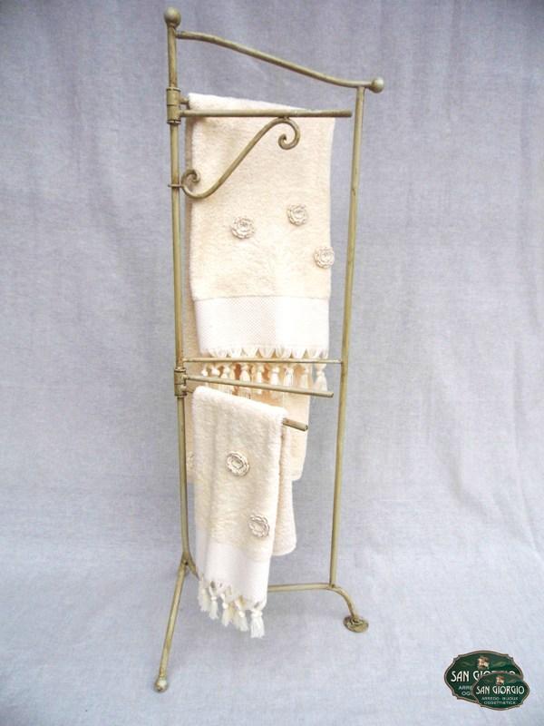 Porta asciugamano su due livelli f0806 san giorgio for Arredo bagno con due lavelli