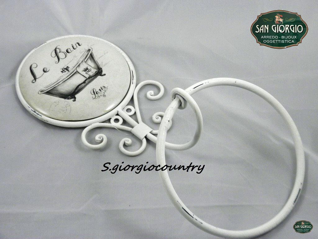 Appendi Asciugamani Da Muro porta asciugamano da muro con anello le bain paris f0897