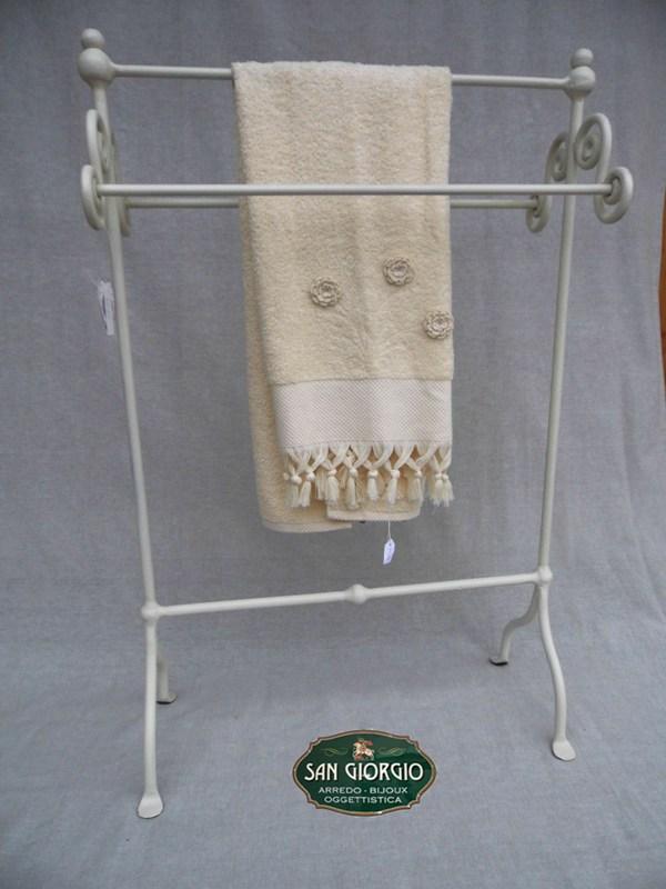 Porta asciugamano tre posti grande bianco san giorgio - Porta asciugamano bagno ...